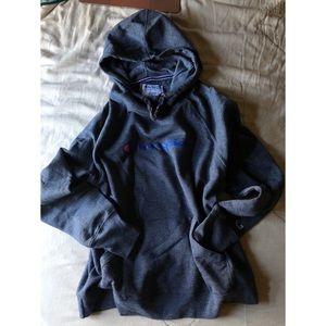 CHAMPION : gray pullover hoodie sweatshirt L women